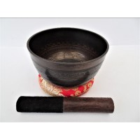 15 cm Etched Thado Singing Bowl