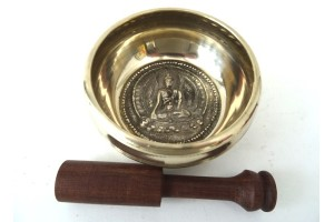 12 cm Singing Bowl with Buddha image