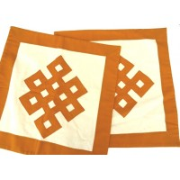 Eternal Knot Patchwork Cushion Covers