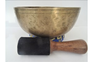 23 cm Old Hammered Singing Bowl