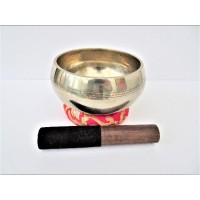 15 cm Cast Etched Singing Bowl