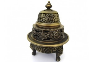 Tripod Incense Burner (Bronze Color)