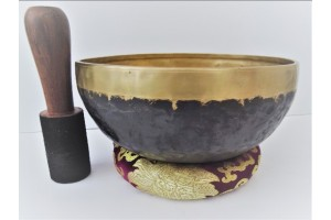 22.5 cm Black Hammered Singing Bowl