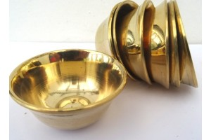 5cm Plain brass offering bowls