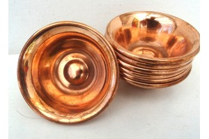 6 cm Copper Offering Bowls