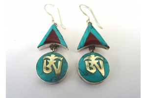 Tibetan Style silver earrings