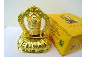 Boxed LED desktop prayer wheel