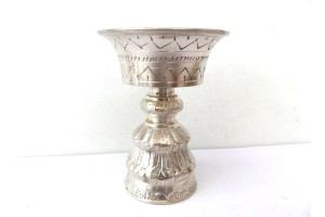 Silver plated Butter lamp