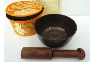 10 cm Etched Thado Singing Bowl