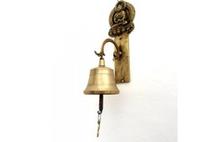 Wall mounted bell with Buddha
