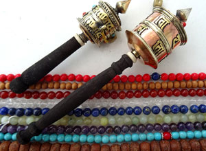 PRAYER MALA & PRAYER WHEELS