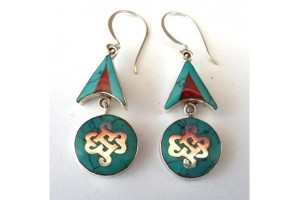 Silver Endless Knot Earrings
