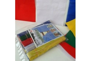 PLAIN 15cm flags pack (50 flags in all)
