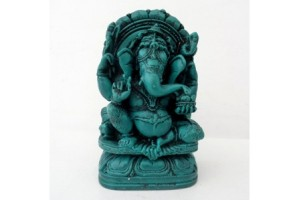 Green Resin Ganesh