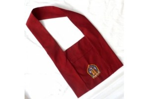 Maroon Lama Bag with Kalachakra Symbol