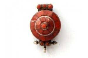Red Coral Amulet Box