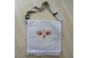 Cotton Bag with Buddha Eyes