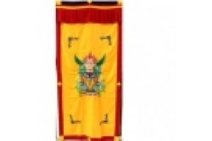 Yellow Garuda Embroidered Door Curtain