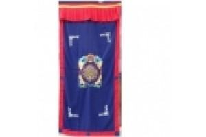 Dark Blue Tibetan Zodiac Door Curtain