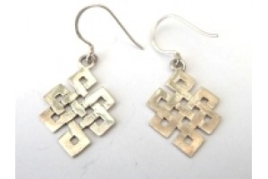 Silver Eternal Knot earrings