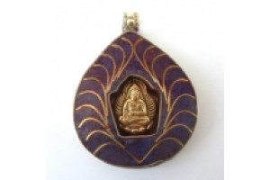 Brass Buddha Shrine Amulet