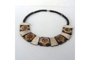 Bone Buddha Eyes Necklace