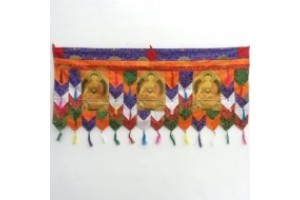 Three Buddha Images wall hanging