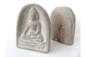 Small Carved Stone Buddha