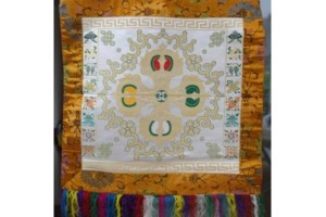 Double Vajra Brocade white